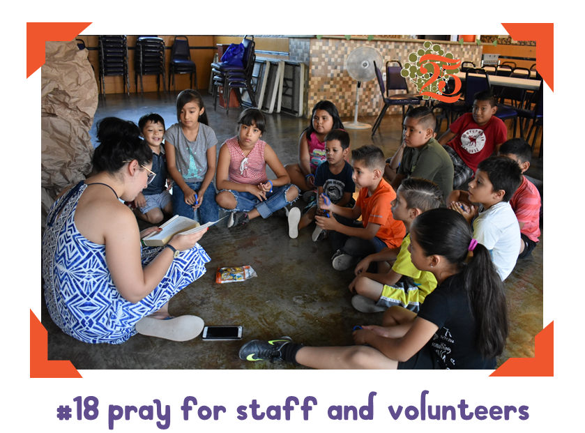 18 of 25 ways: pray for the staff of Amigo Fiel